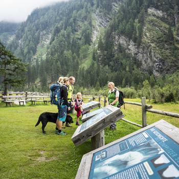 Infotafeln im Seebachtal