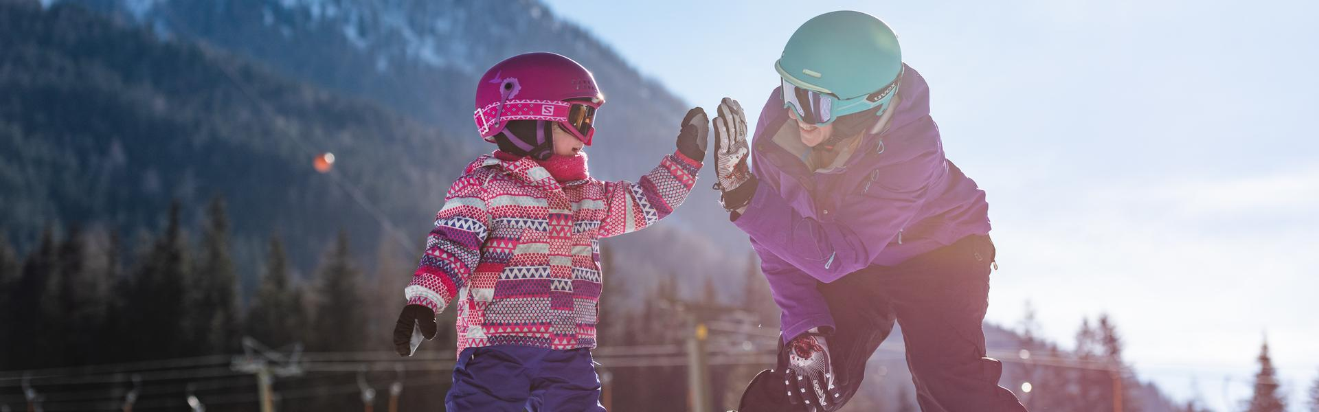 Children's ski course at the Köfelelift