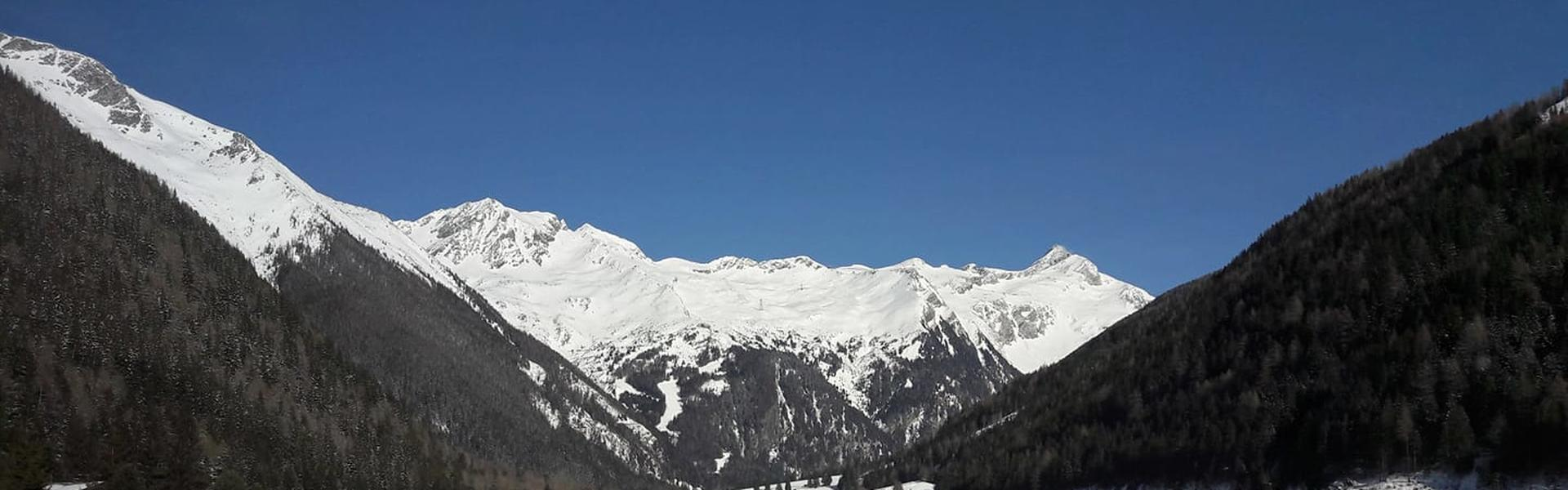 View from the valley to the Ankogel ski area